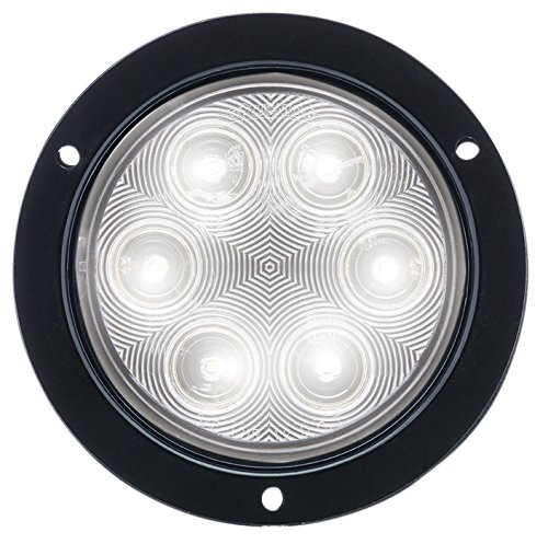 Optronics BUL06CFBP Clear 4' Round Sealed LED Back-Up Light (Fleet Count Dor)