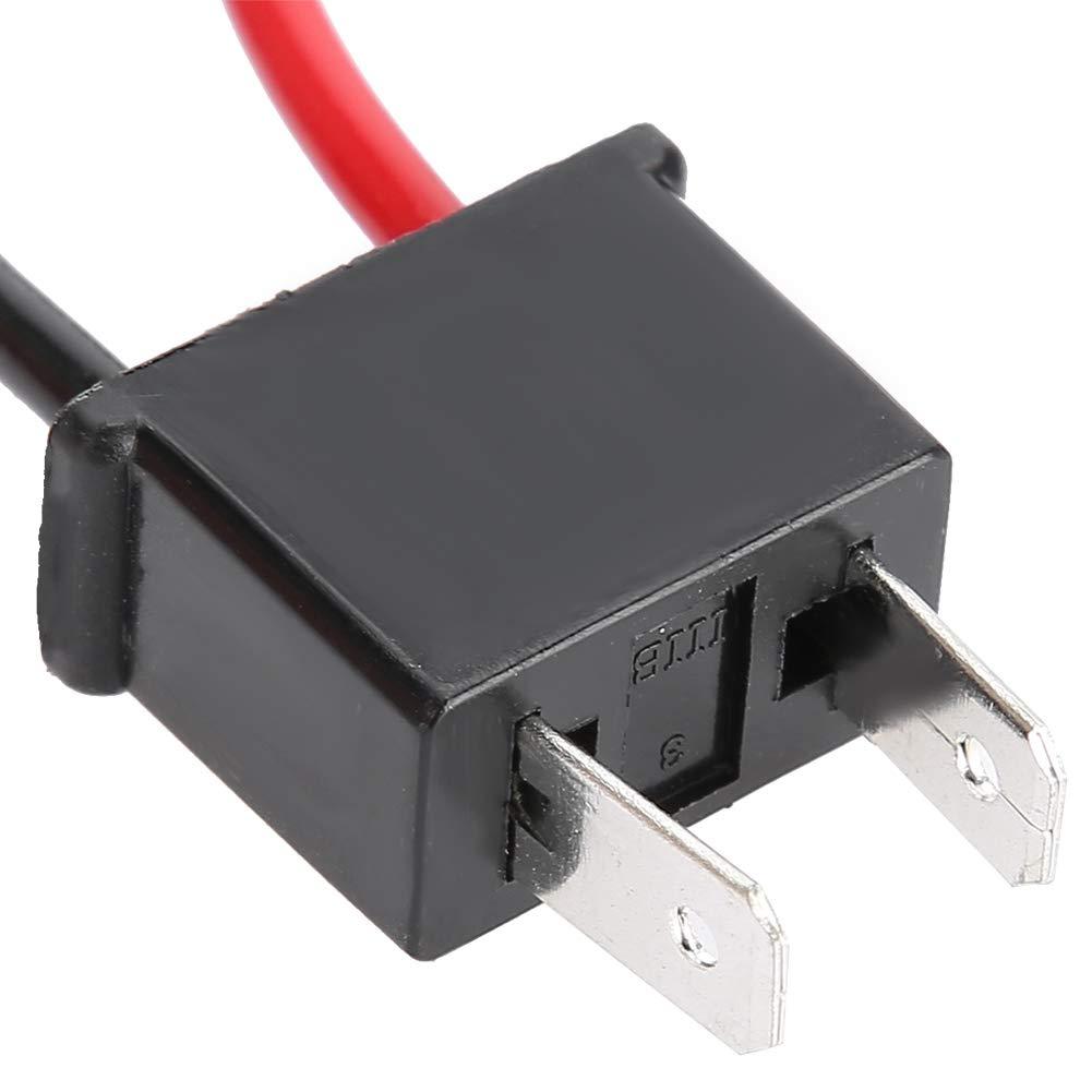 Terisass 2 Pcs H7 LED Load Resistor 12V 50W 8Ohm Headlight Anti Hyper Flash No Error Load Resistor Wiring