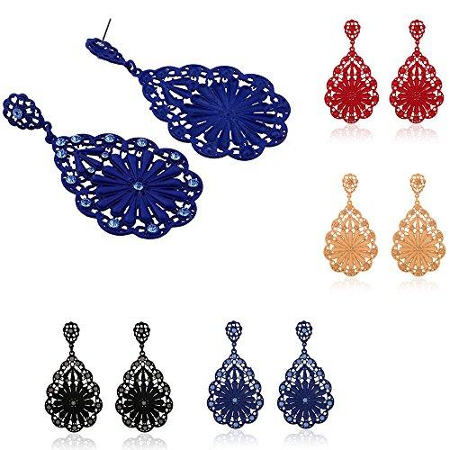 Euone® Fashion 1 pair Women Lady Elegant Flower Rhinestone Ear Stud Earrings Hot