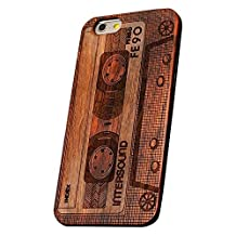 Happy Hours - Apple iPhone 6Plus/6S Plus Protective Shell Natural Wooden Embossed Phone Case / Basso-Relievo Wood Paste PC Phone Cover For Cellphone Protection(Tape)