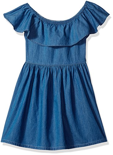 Tommy Hilfiger Big Girls' Denim Off the Shoulder Dress, R...