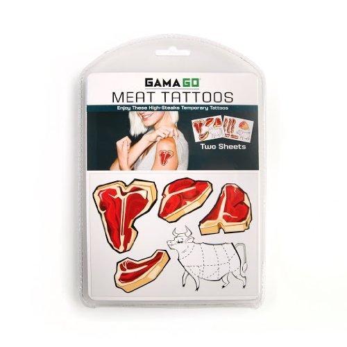 GAMA GO Meat Temporary Tattoos