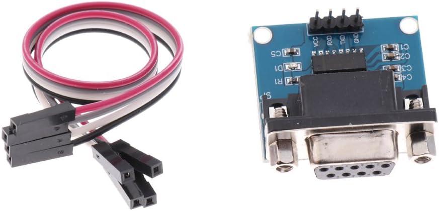 D DOLITY 5pcs DIY Serial Port Mini RS232 to TTL Convertor Adaptor Module Board MAX3232