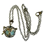 UMBRELLALABORATORY Wishing ball Fairy Magical Fairy Glow in the Dark Necklace-aqua-bronze 7