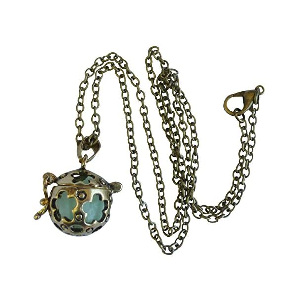 UMBRELLALABORATORY Wishing ball Fairy Magical Fairy Glow in the Dark Necklace-aqua-bronze 4