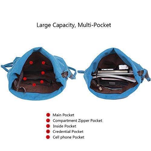 femmes Porté à EGOGO Epaule E523 hommes Sac Sac Messenger Toile Bleu 1 bandoulière pour Bag Bleu nvSXFSq