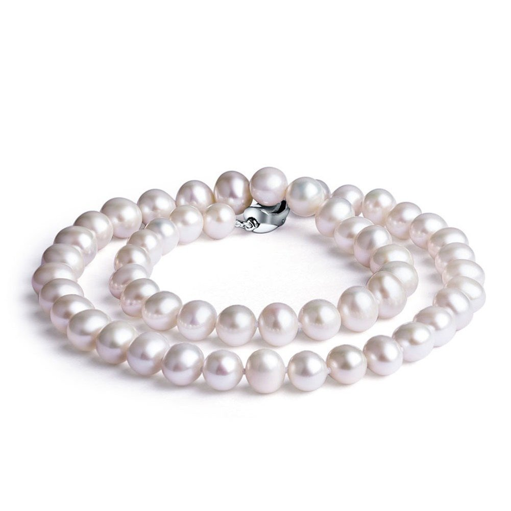Nonnyl Classic Round White Freshwater Cultured Pearl Necklace 18'' (8-9MM)
