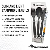 Sea to Summit Camp Cutlery Utensil Set, Charcoal Grey
