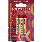Search : Burt's Bees Kissable Color Holiday Gift Set, 3 Lip Shimmers in Gift Box, Warm Collection in Peony, Fig & Rhubarb