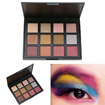 Cosmeticos Maquillaje Paleta de Sombras de Ojos, AMBITO 12 Colores Paletas de maquillaje Profesional Cosmético de Sombra de Ojos Paleta - #3