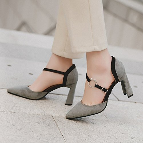 wild grigio yalanshop scarpe donna delle 1 Punta scarpe in 38 luce raso OOqz1W