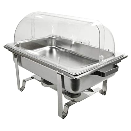 Amazon Com Thaweesuk Shop 2 Pack Full Size Roll Top Chafing Dish