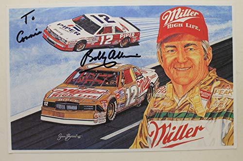 Bobby Allison NASCAR Legend Driver Autographed Signed 5x9 Photo Card