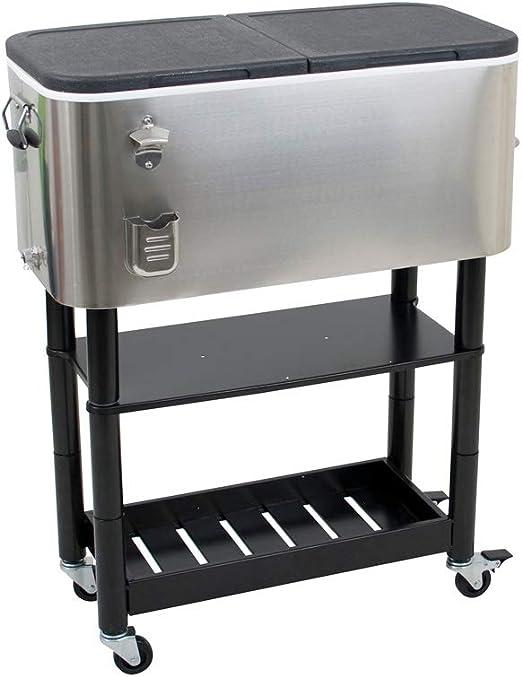 Servierwagen Kühlwagen Kühlbox Beistellwagen Getränkewagen Getränkekühler Eisbox