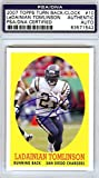LaDainian Tomlinson Autographed 2007 Topps Turn Back The Clock Card #10 San Diego Chargers PSA/DNA Stock #79448