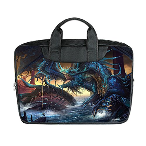 Jiuduidodo Custom Best Gifts Pretty Dragon 3D Printed Nylon Waterproof Bag Computer Bag Handbag For Laptop 10   Twin Sides