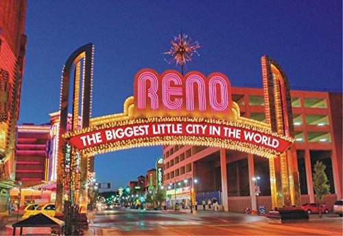 Reno, Nevada, The Biggest Little City in the World, Sign, City, NV, Souvenir Magnet 2 x 3 Fridge Magnet (Reno The Biggest Little City In The World)