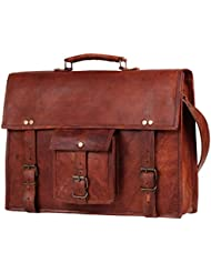 15 Mens Genuine Leather laptop messenger bag Satchel shoulder bag distressed crossbody bag briefcase