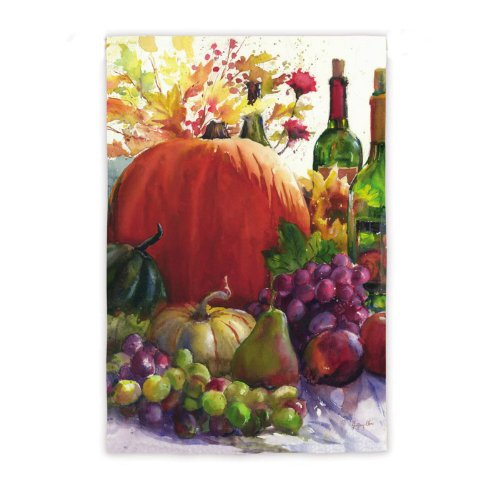 Pumpkin and Wine Garden Flag
