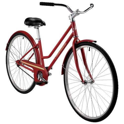 アメリカーノOne Women 's single-speed City Bike B017TEYY9Mマルーン 15