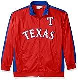 MLB Texas Rangers Men's Tricot Poly Track Jacket, 4X, Red/Royal