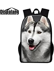 Dispalang Cute Dog Printing School Backpack for Children Cool Animal Back Pack Girls Polyester Bookbags