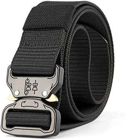WN.ROPP Mens Tactical Belt Military Nylon Belt Outdoor Multifunctional Training 3.8Cm