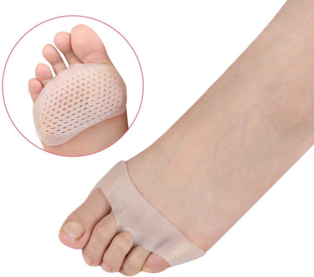Hautfarbe SEBS Silikon Zehenpolster Honeycomb Vorfu/ßkissen Pad Sto/ßd/ämpfungsmassage Anti-Rutsch-Zehenarmband Fu/ßpflegewerkzeug