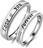 ANVI Jewellers Splendiferous Special Couple Love Ring Bands for Girlfriend and Boyfriend FOR VALENTINES DAY Gift