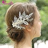 Silver Barrette Women Hair Clip Freshwater Pearl