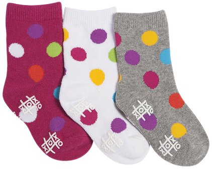 Tic Tac Toe Baby Girls' Wild Dots Graphic Socks