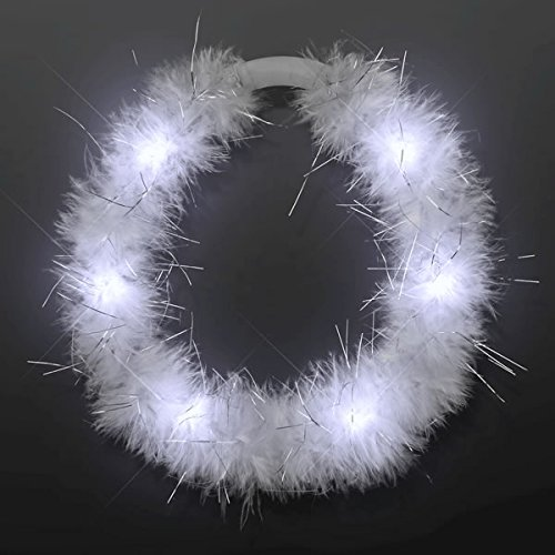 blinkee LED White Feather Angel Halo Crown Headband by -