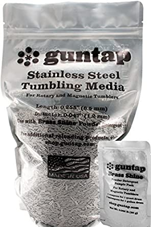 """0.047/"""" Diameter 0.255/"""" Length 8 lb Stainless Steel Tumbling Media Pins"""
