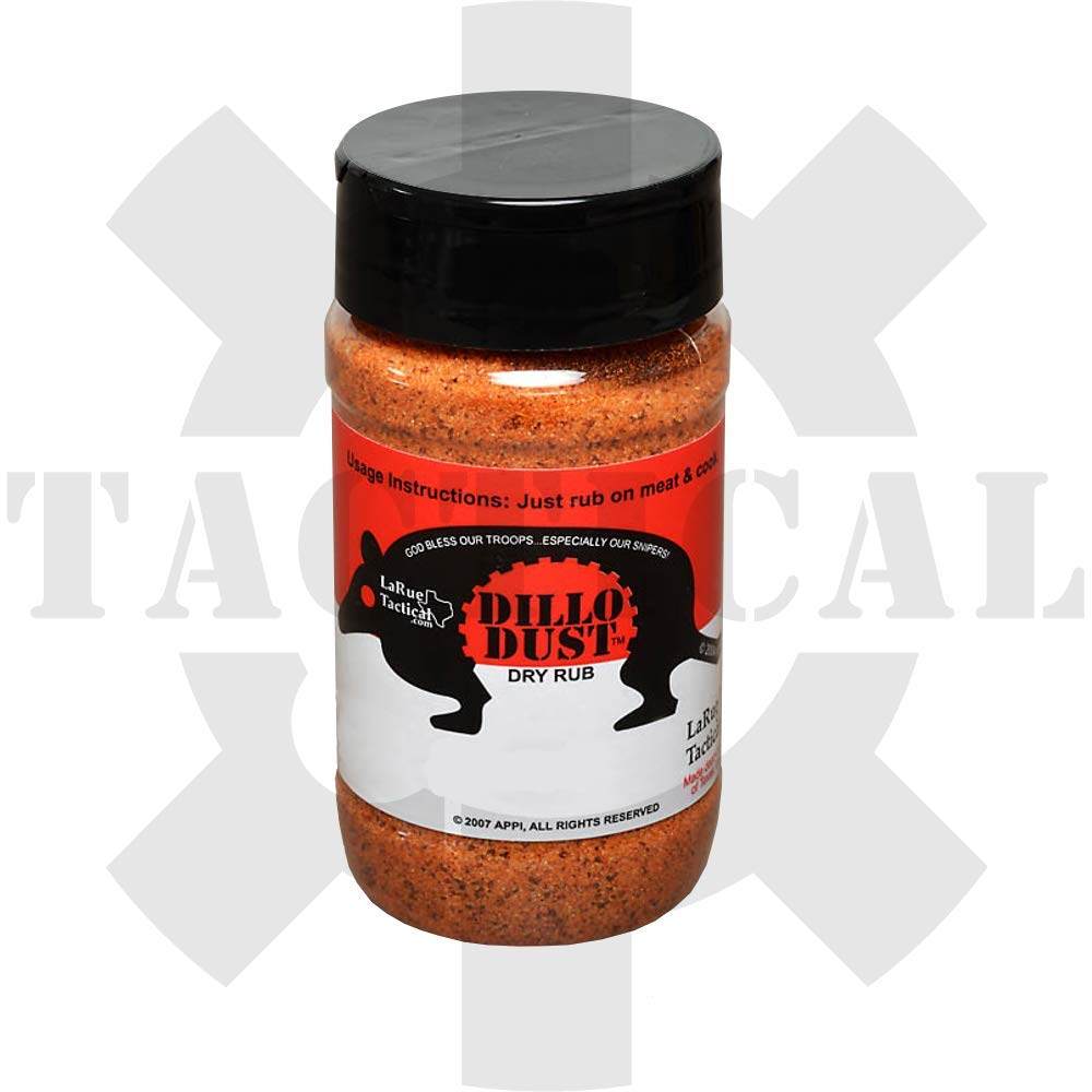 The Original Famous LaRue Tactical Dillo Dust Dry Meat Rub Spice Mix (14 oz)
