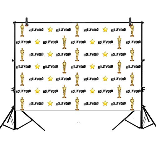 Allenjoy 7x5ft Hollywood Star Themed Step and Repeat Backdro