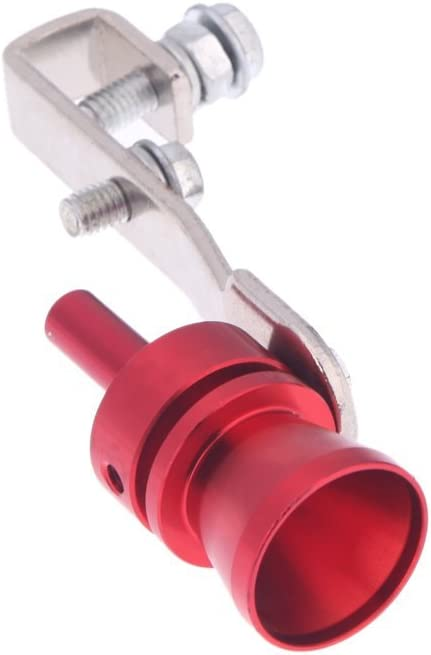 Imagen dekkmoon Turbo Ton Whistle Tubo de escape silencioso de Blow Off Válvula Aluminio tamaño m rojo