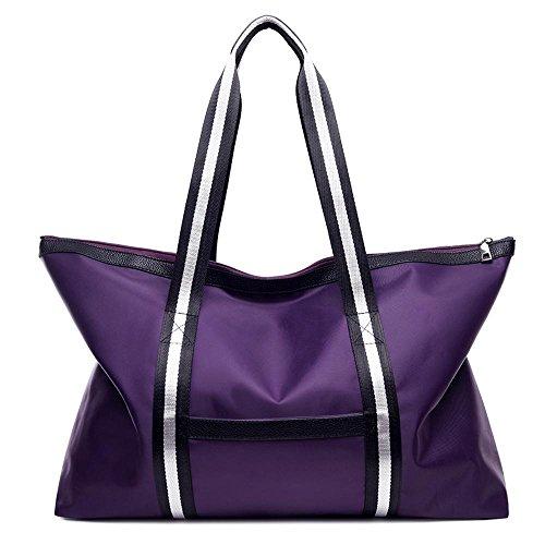señora simple solo de Purple hombro nylon la de 50cmx10cmx35cm bolso tamaño de manera Paquete la especial Penao F1wPIS
