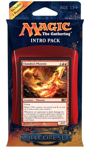 Magic the Gathering M14: MTG: 2014 Core Set Intro Pack: Fire Surge Theme Deck (Includes 2 Booster Packs)