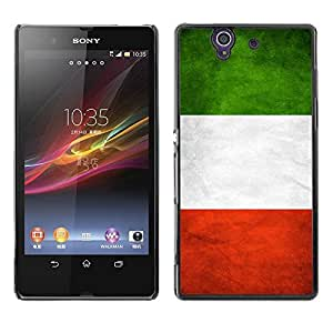 Shell-Star ( National Flag Series-Italy ) Snap On Hard Protective Case For SONY Xperia Z / L36H / C6602 / C6603 / C6606