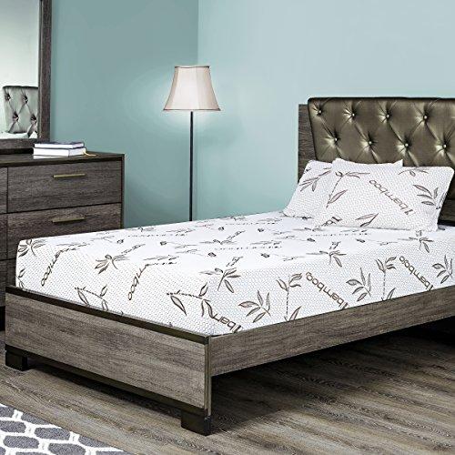 Fortnight Bedding 8 Gel Memory Foam Mattress with Bamboo Cov