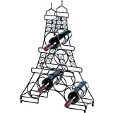Koehler Home Decor Metal Countertop French Country Eiffel Tower Wine Holder Rack