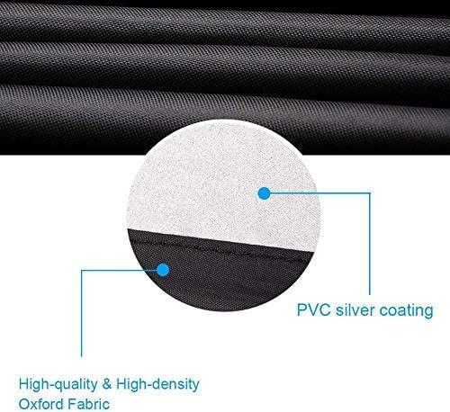 YINGZU Extérieur Four Fire Pit Dust Cover 210D Tissu Oxford Round et Anti-poussière Couverture imperméable avec revêtement PVC Housse de Protection,85 * 40cm