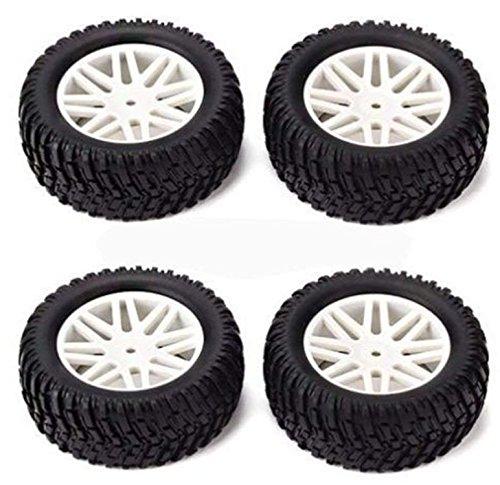 Rc Mesh Wheel - Hobbypower RC 1:10 Off-Road Vehicle Wheel Rim Rubber Tyre Tire White Mesh Wheel Hub(pack of 4 pcs)