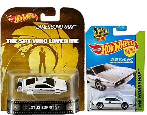 James Bond Lotus Esprit S1 Underwater Spy who Loved Me Hot Wheels Retro & HW Garage Mainline #219 White (Lotus Esprit Submarine)