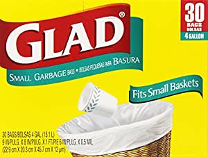 Glad 4 Gal. Small Garbage Bags 30 ct