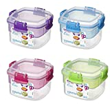 #6: Sistema 21320 Snacks Container, 400ml, Colors Vary -Pack 2