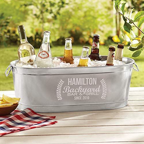 (Personal Creations - Personalized Gifts Backyard Bar Beverage Tub)