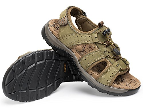 Anti Water Outdoor Men's Sandals Style Fisherman slip Shoes Green Open Sports Toe R714qwE