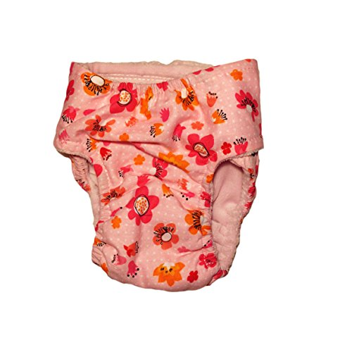 hot sale 2017 Cat Diapers - Made in USA - Spring Flower on Pink Washable Cat Diaper for Piddling, Spraying or Incontinent Cats