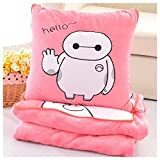 Onebest Soft big hero 6 Baymax throw pillow & blanket 2 in 1 by Onebest